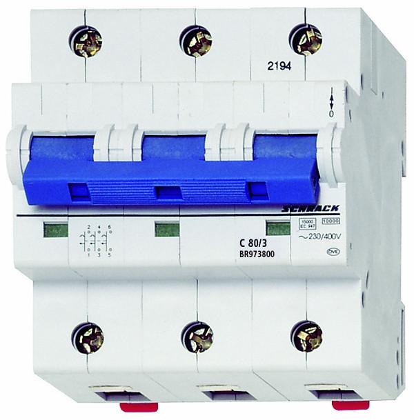 Автоматический выключатель BR 3p C 100А (10 kA)