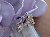 Серебряное кольцо с золотой пластинкой , фото 6