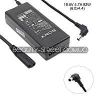 Блок питания для ноутбука Sony Vaio VGN-FE590P04, VGN-FE590P07, VGN-FE590P10 19.5V 4.7A 92W 6.0x4.4 (B)