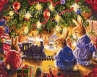 """Роспись по номерам Животные, птицы """"Рождественская сказка"""", в кор. 40*50см"""