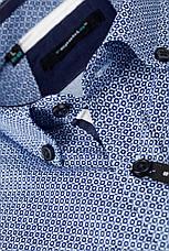 Рубашка мужская TOMI голубая с синим узором, фото 3