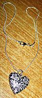"""Серебряный кулончик """"Звездное сердце"""" от студии LadyStyle.Biz, фото 1"""