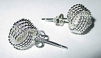 """Серебряные серьги- гвоздики """"Кольцо"""" от студии LadyStyle.Biz, фото 1"""