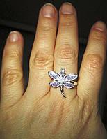 """Серебряное кольцо """"Стрекоза"""" от студии LadyStyle.Biz, фото 1"""