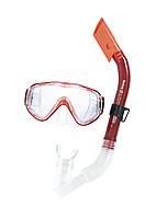 Набор маска и трубка для подводного плаванья Bestway 24028 красная