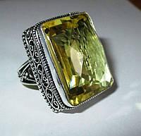 "Шикарное кольцо ""Квадро"" с цитрином, размер 18,7  от студии LadyStyle.Biz, фото 1"
