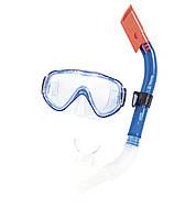 Набор маска и трубка для подводного плаванья Bestway 24028 синяя
