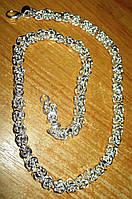 """Серебряное ожерелье  """"Плетеное"""" от студии LadyStyle.Biz, фото 1"""