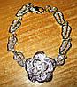 """Ажурный серебряный  браслет """"Роза """" от студии LadyStyle.Biz"""