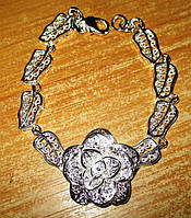 """Ажурный серебряный  браслет """"Роза """" от студии LadyStyle.Biz, фото 1"""