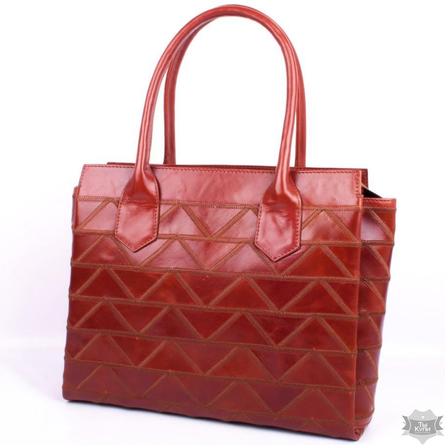 781d432a999f Женская Кожаная Красно-коричневая Сумка Valenta ВЕ61301510 — в ...