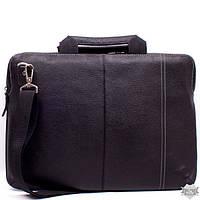 Кожаная черная сумка для ноутбука Valenta ВХ2381681