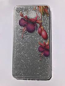 TPU + PC YOUNICOU Bloom Spring Series for Samsung G532 / Galaxy J2 Prime Silver Gloss (серебряный блеск) Violet Lilies (фиолетовые лилии)