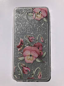 TPU + PC YOUNICOU Bloom Spring Series for Samsung G532 / Galaxy J2 Prime Silver Gloss (серебряный блеск) Pink Tulips (розовые тюльпаны)