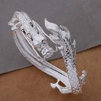 """Шикарный серебряный  браслет """"Дракон"""" от студии LadyStyle.Biz, фото 1"""