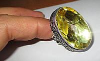 """Шикарное кольцо """"Лимонный"""" с цитрином, размер 17.1  от студии LadyStyle.Biz, фото 1"""
