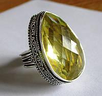 """Шикарное кольцо """"Капля"""" с цитрином, размер 18  от студии LadyStyle.Biz, фото 1"""