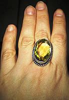 "Симпатичное кольцо ""Моника"" с цитрином, размер 20  от студии LadyStyle.Biz, фото 1"