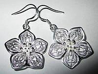 """Серебряные серьги """"Сакура"""" от студии LadyStyle.Biz, фото 1"""
