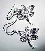 """Серебряные серьги """"Стрекоза"""" от студии LadyStyle.Biz, фото 1"""