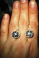 """Серебряные серьги """"Шар"""" от студии LadyStyle.Biz, фото 1"""