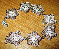 """Нежный серебряный  браслет """"Сакура """" от студии LadyStyle.Biz, фото 1"""