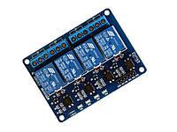 Arduino 4 канальный модуль с реле 5В, 10А
