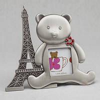 """Детская рамочка """"Мишка в Париже"""""""