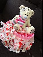 Оригинальный подарок на день Св.Валентина с мишкой Тедди