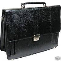 Мужской черный портфель из искусственной кожи b6801 black