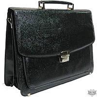 Мужской черный портфель из искусственной кожи b7808 black