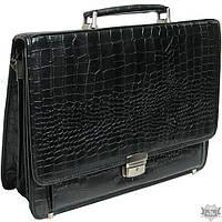 Мужской черный портфель из искусственной кожи 276 black