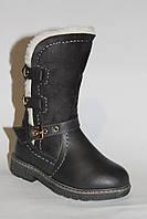Кожаные детские сапоги. Зимняя обувь (27-32)