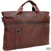 Мужская кожаная сумка для ноутбука и документов SKA1203-brown