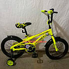Детский велосипед Crosser Iron Man 16 дюймов желтый, фото 2