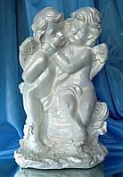 Ангелочки Пара на камне Б. (белый) 37 см.