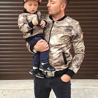Модная весенняя куртка бомбер для мальчика (134-152р), фото 1