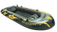 Лодка надувнаяIntex 68349Seahawk на 3х человек