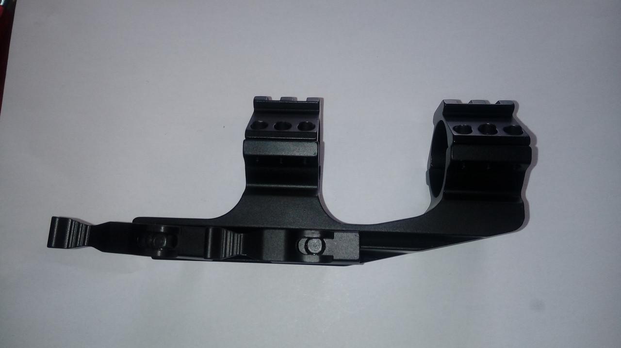 Моноблок быстросъемный на вивер с выносом , с дополнительными планками вивера. Труба 25 и 30 мм