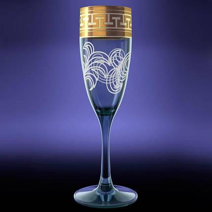 """Набор бокалов 170 мл для шампанского GE01-1687 """"Эдем"""" рисунок """"Греческий узор"""" 6 шт., фото 2"""