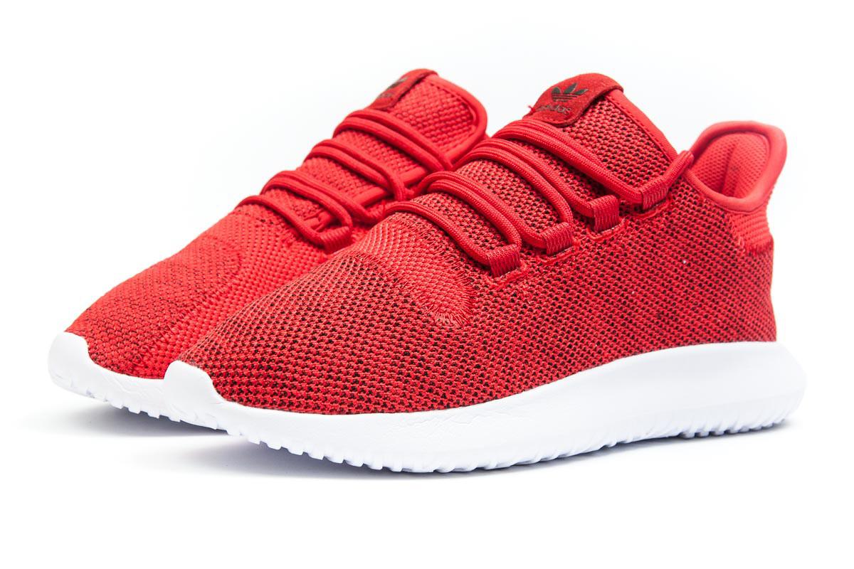 Кроссовки мужские Adidas  Tubular Shadow Knit, красные (11831) размеры в наличии ► [  44 45  ]