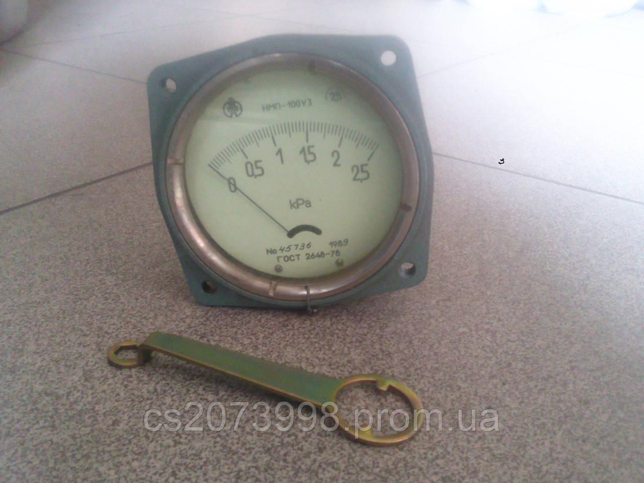 Вакуумметр, тягомер мембранный показывающий ТмМП-100 ТУ 25-02-1730 сеялка СУПН8-01