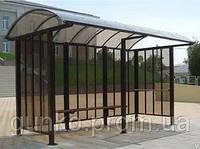 Остановочный павильон поликарбонат 4м