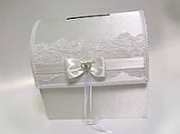 Свадебная казна. Сундук для денег в белом цвете.