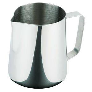 Молочник (Питчер) нержавеющая сталь 300 мл. с ручкой, серый