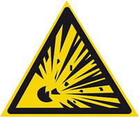"""Табличка Предупреждающий знак """"Взрывоопасно"""""""