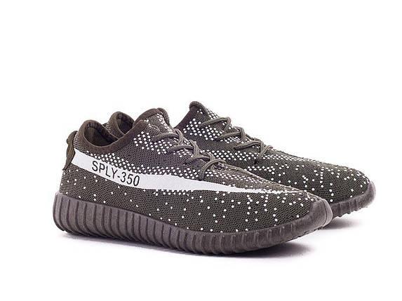 Кроссовки унисекс кеды под Adidas Sply 350 хаки зеленые Адидас на каждый день, для занятий спортом бега), фото 2