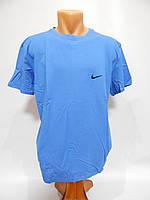 Мужская футболка Nike реплика р.54  014Ф голубая, фото 1