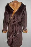 Махровый халат с капюшоном для подростка 10-12 лет