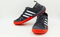 Кроссовки (р-р 40-44)  Doroga new (верх-PL, PVC, подошва-RB, черный-красный)